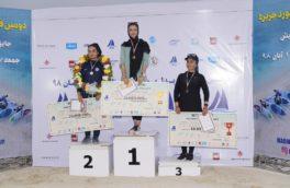 مقام نایب قهرمانی پدل برد ، جایزه بزرگ توسط بانوی کرمانشاهی