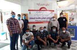 اهدای خون توسط جامعه ورزش بوکس استان